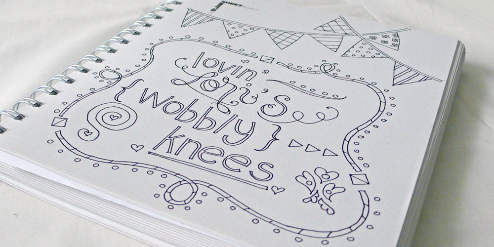 Pen and Ink Lettering via Happy Hands Project