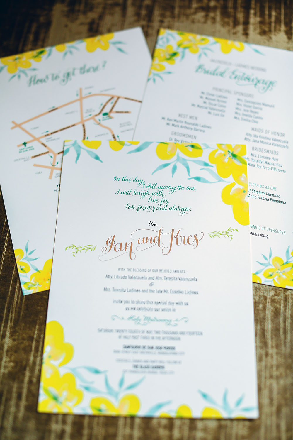 Calligraphy and Watercolour in Yellow and Emerald | Happy ...