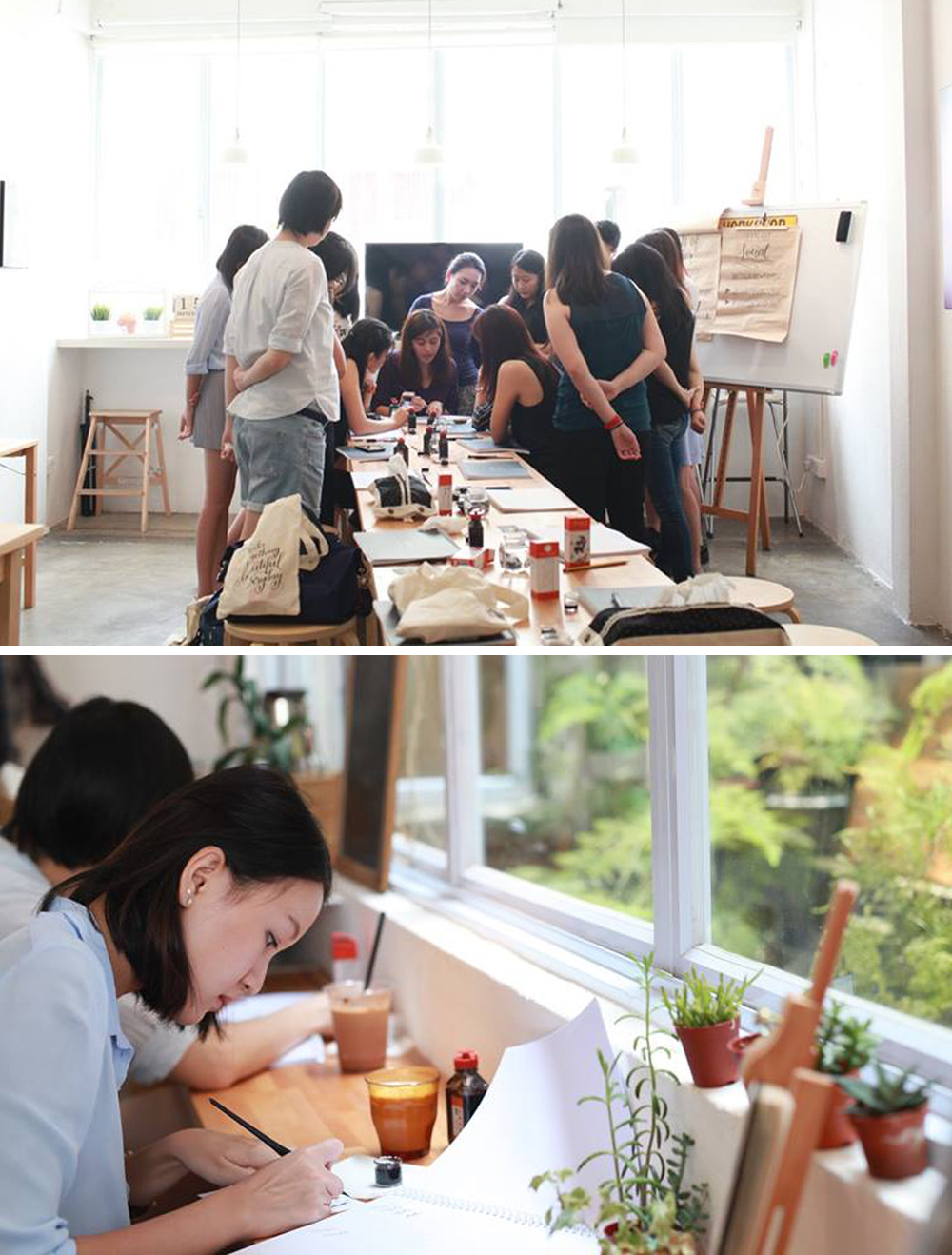 Modern Calligraphy and Brush Lettering Workshops in singapore | Happy Hands Project