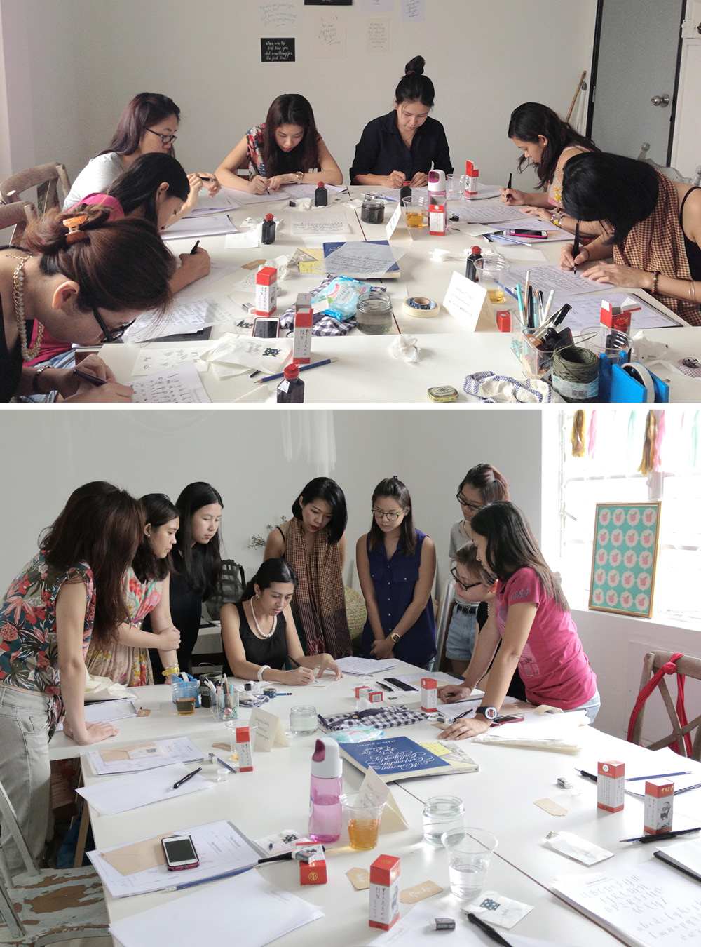 Calligraphy Workshop Aug2014 via Happy Hands Project