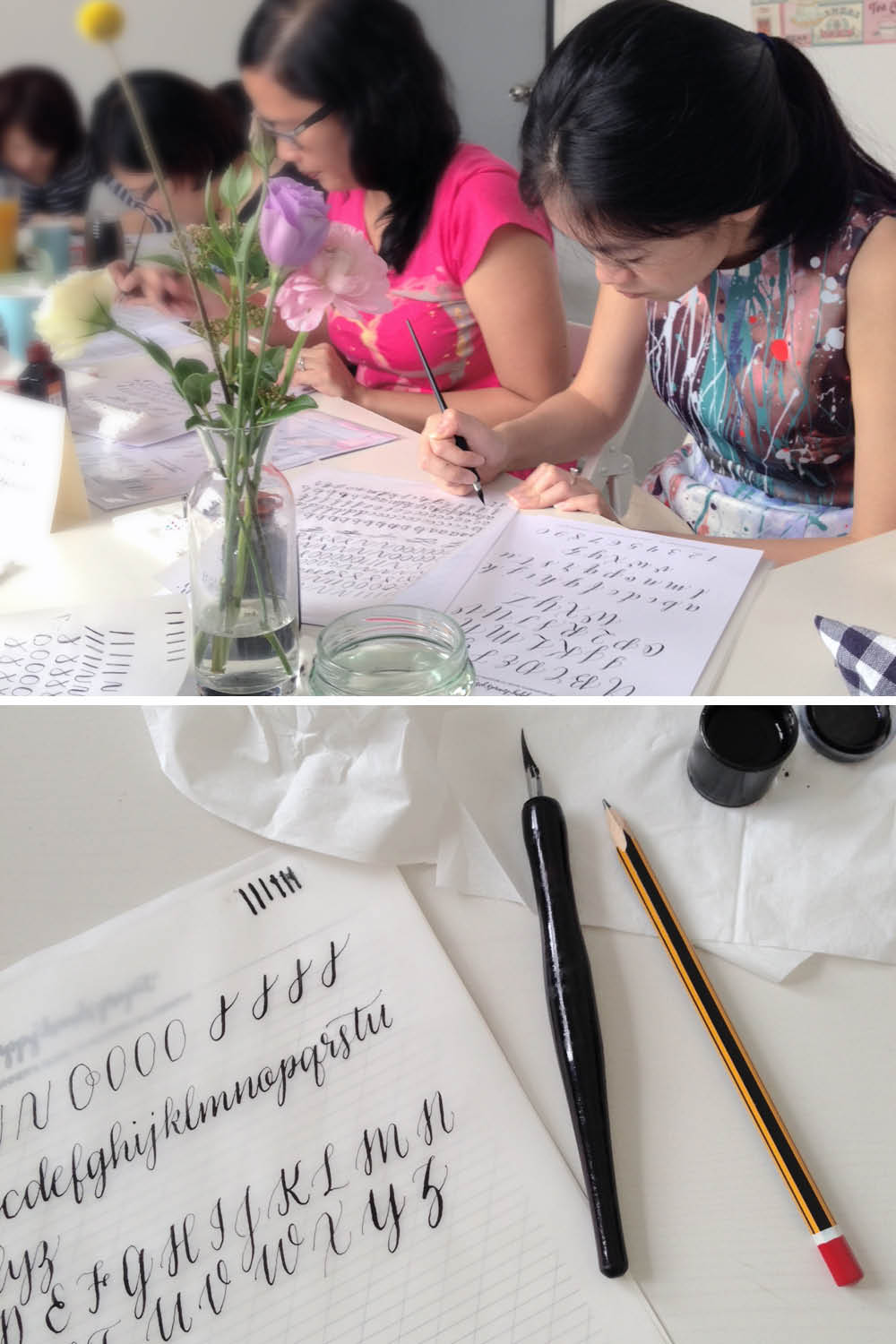 Modern Calligraphy Workshops via Happy Hands Project
