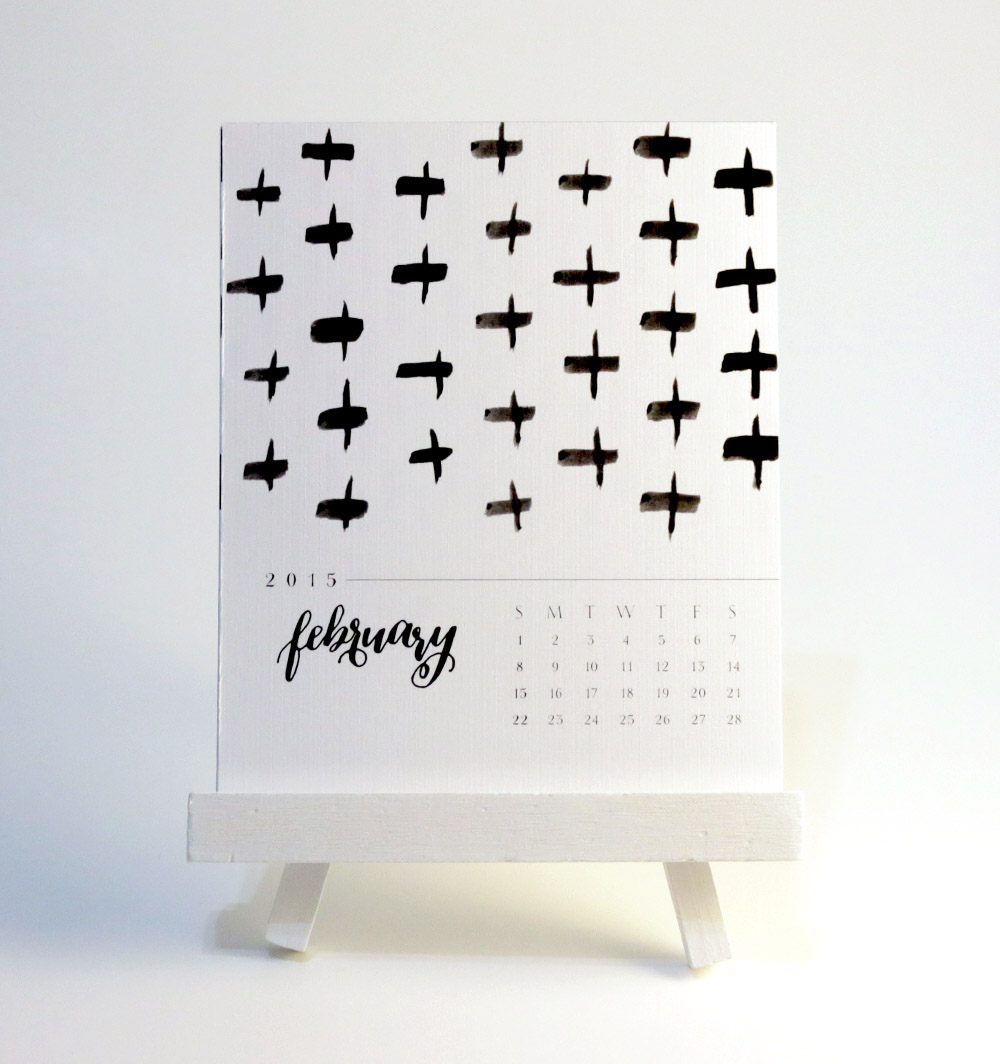 Calligraphy Calendar via Happy Hands Project