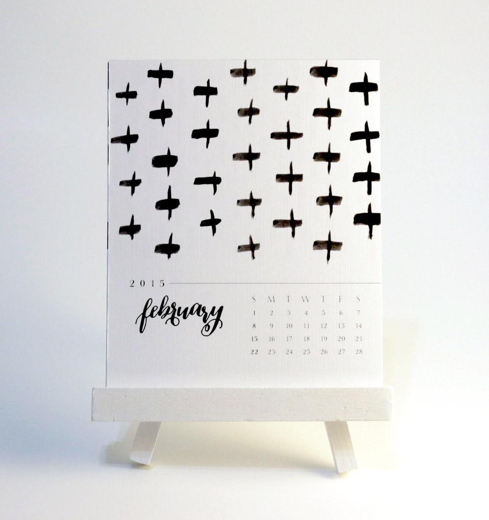Calligraphy Calendar via Happy Hands Project