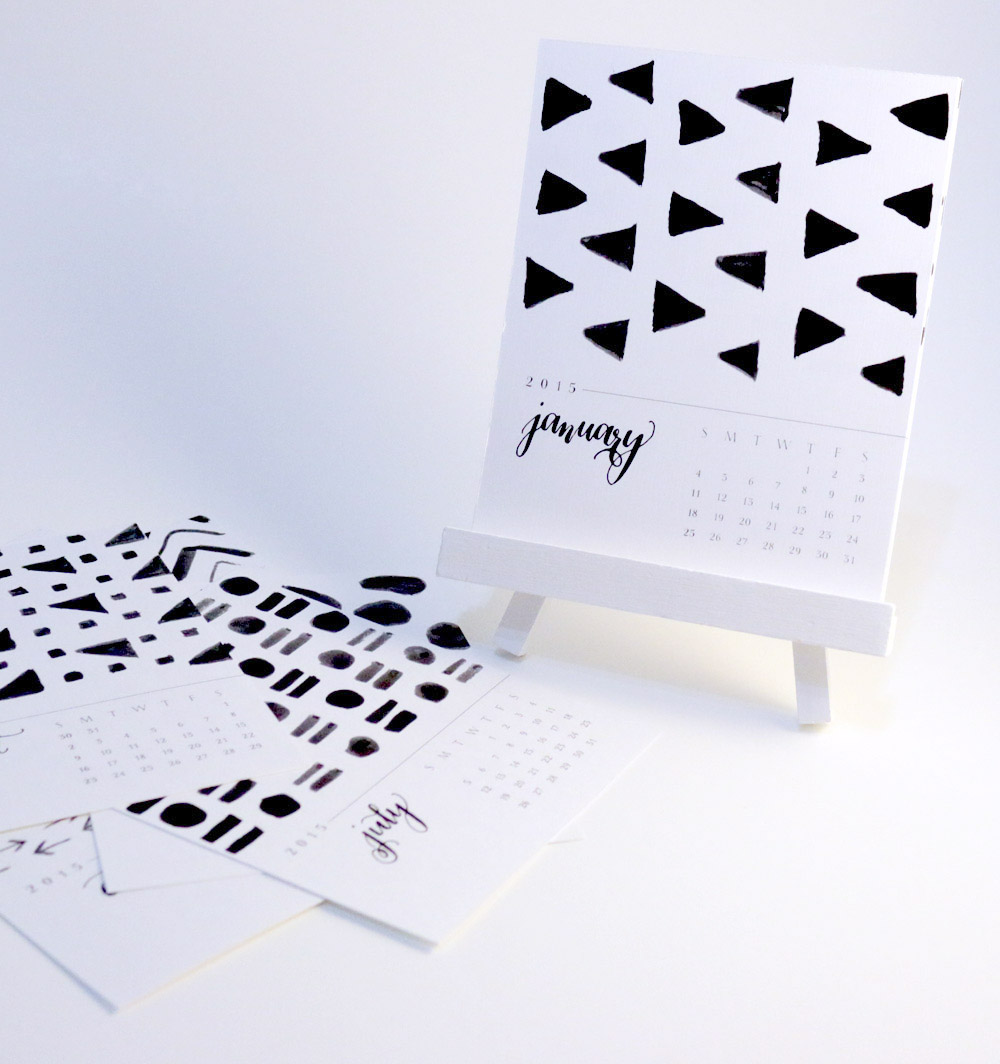 Calligraphy Calendar by Happy Hands Project