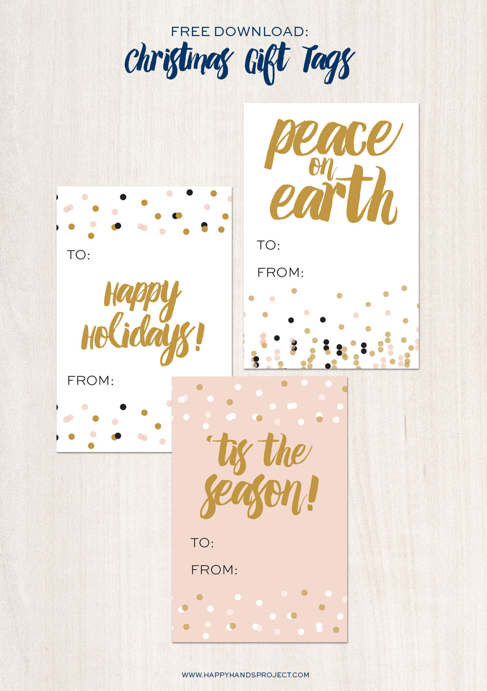 Freebie: Printable Holiday Confetti Gift Tags | Happy Hands Project