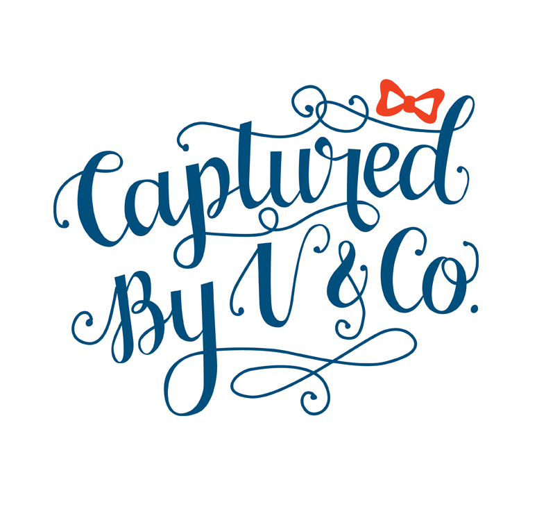 Captured by V and Co Hand-lettered logo via Happy Hands Project