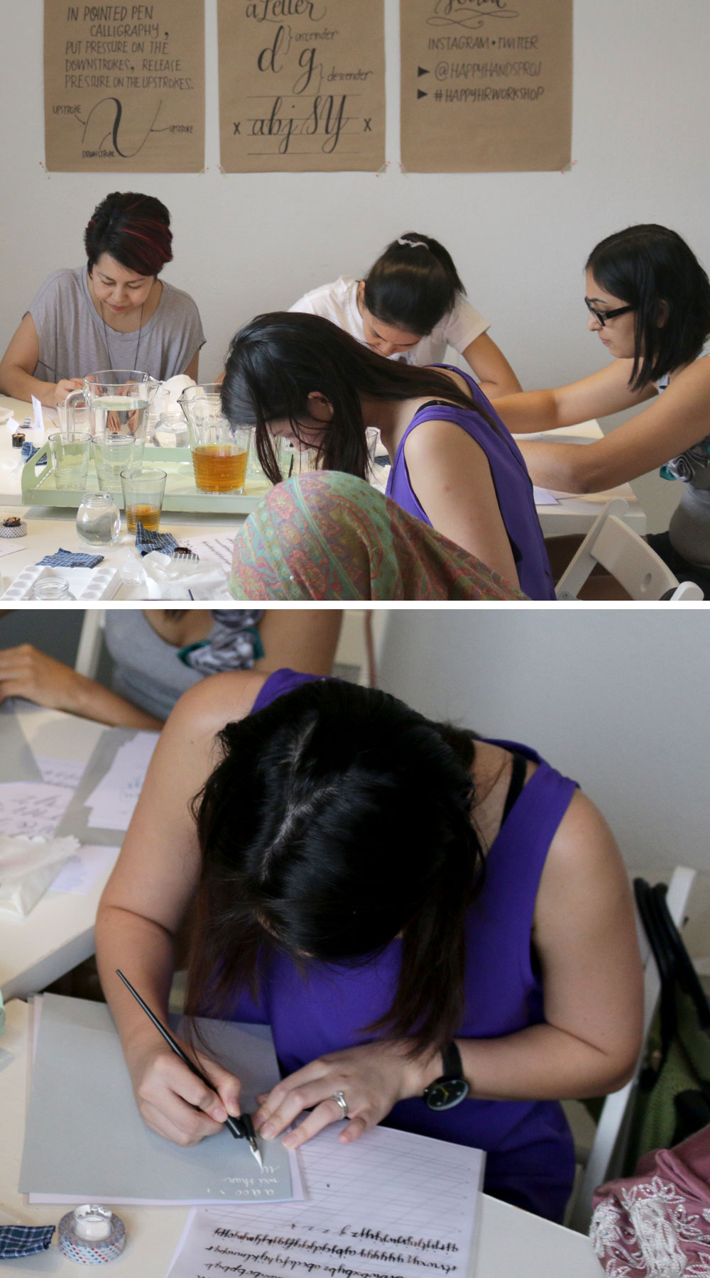 Calligraphy In Colour Workshop via Happy Hands Project