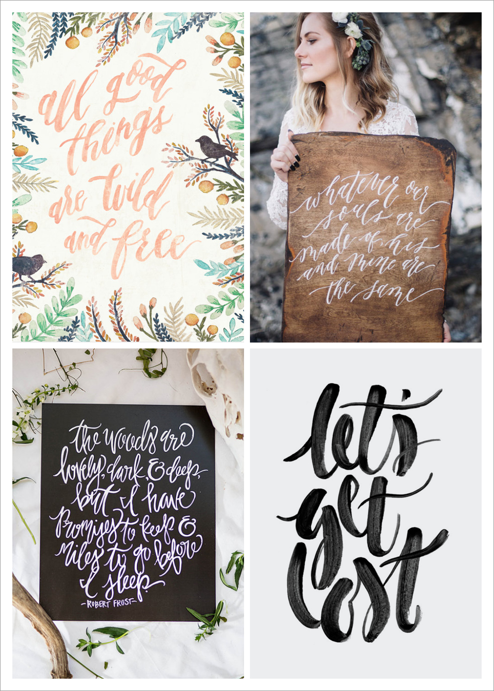 rustic calligraphy inspiration via happy hands project