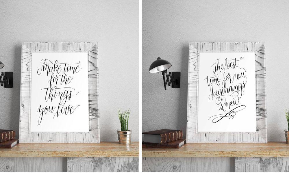 Calligraphy Prints via Happy Hands Project