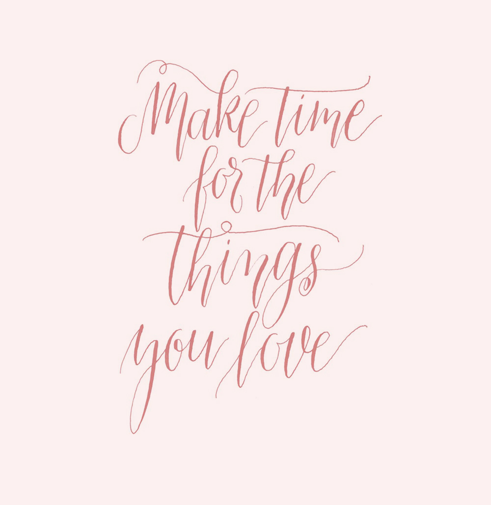 Make Time for the Things You Love via Happy Hands Project