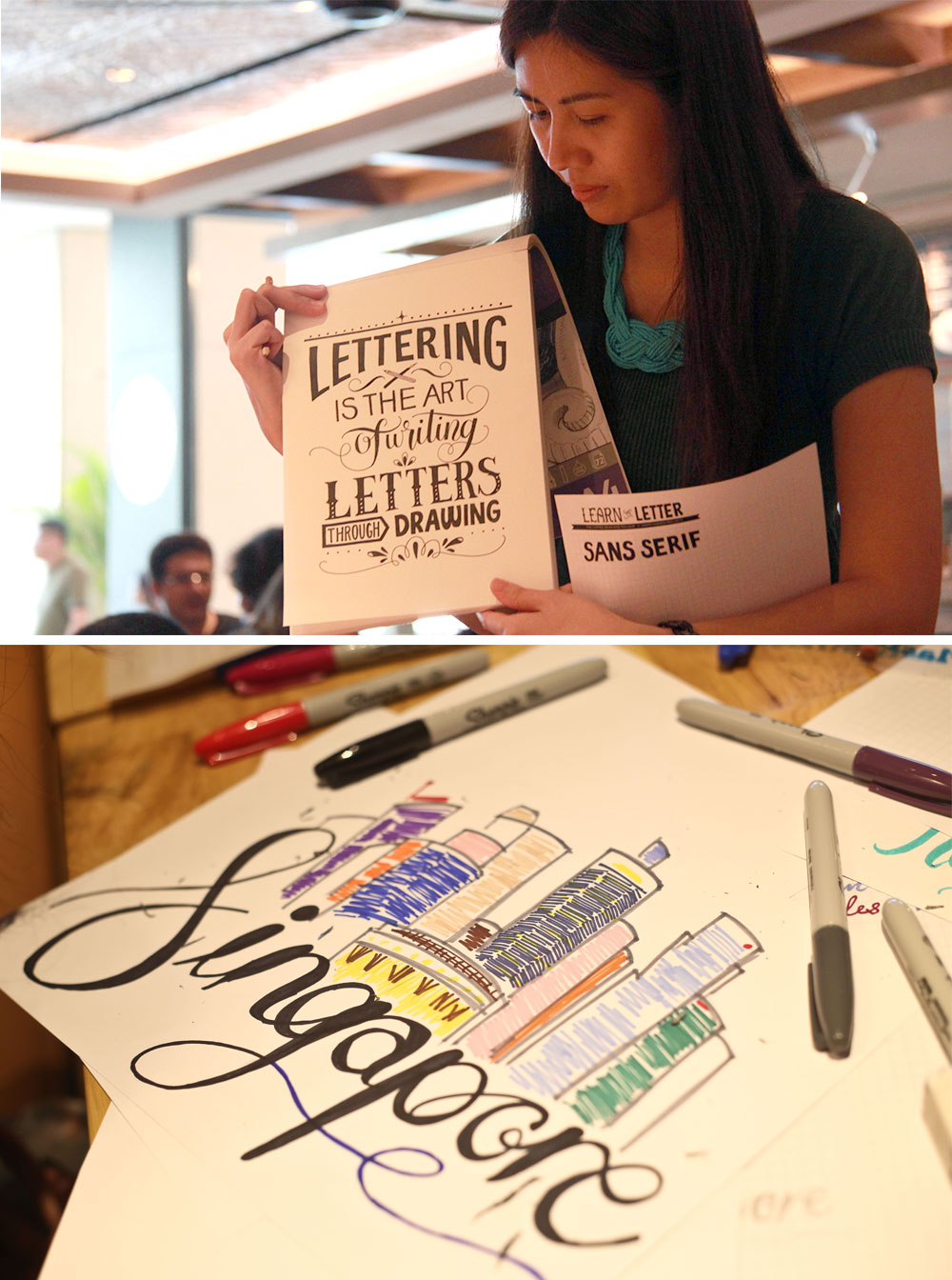 Coffee Bean Singapore Lettering Workshop via Happy Hands Project