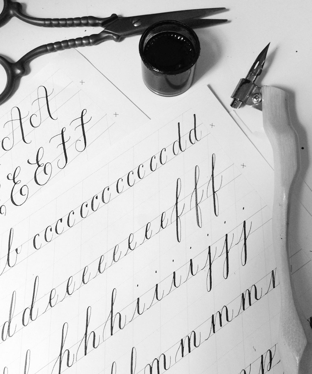 Calligraphy Drills via Happy Hands Project