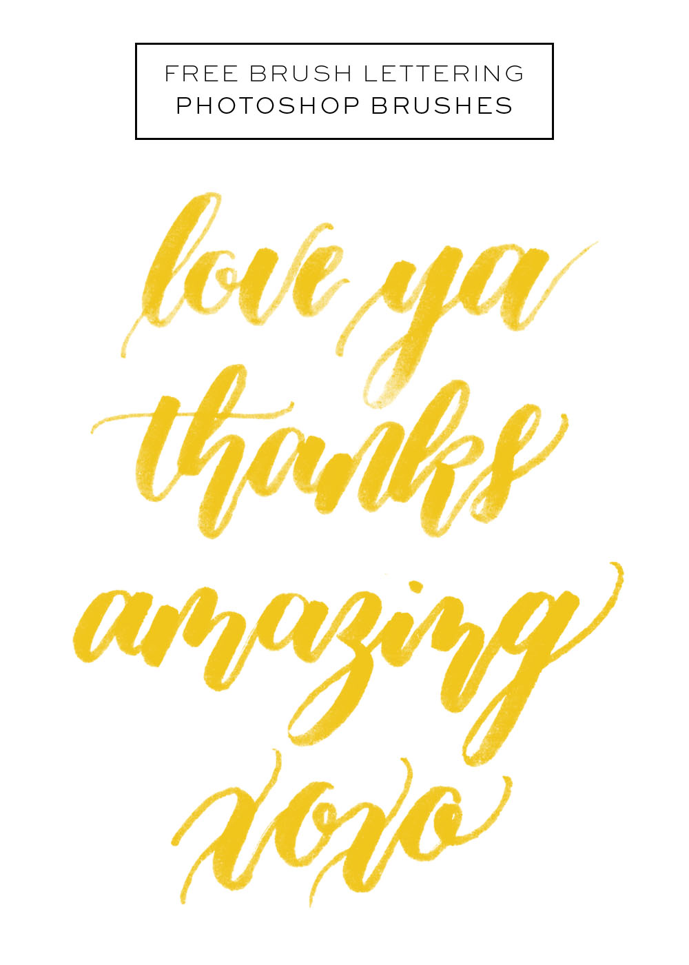 Brush Lettering Photoshop Brushes via Happy Hands Project