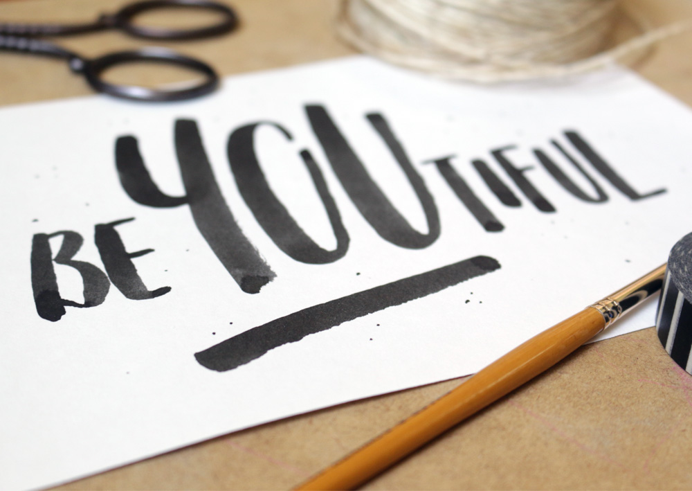 Brush Lettering via Happy Hands Project