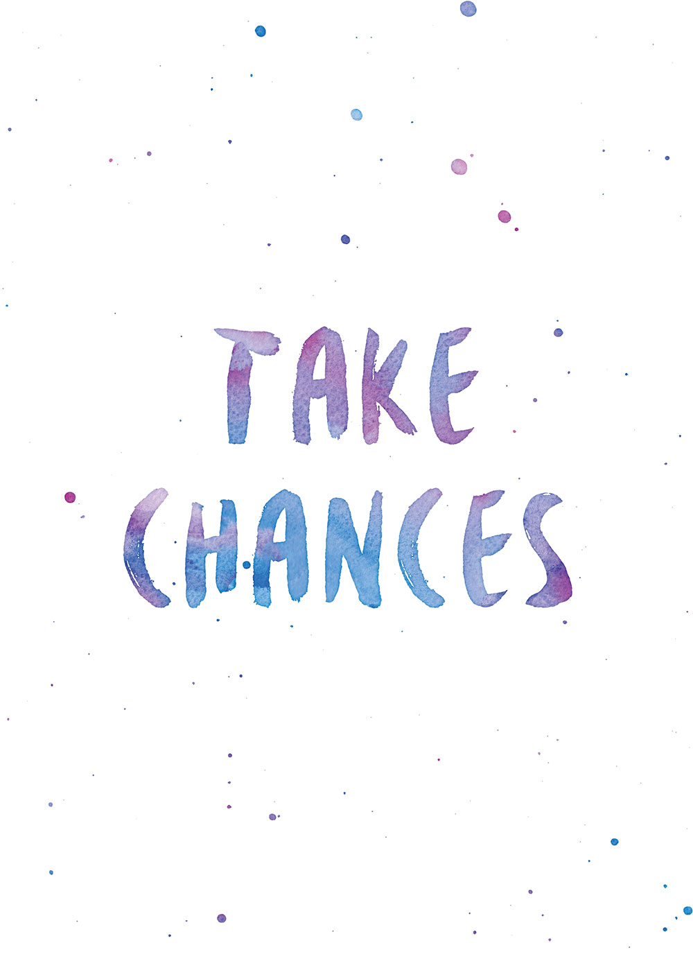 Take Chances Printable via Happy Hands Project