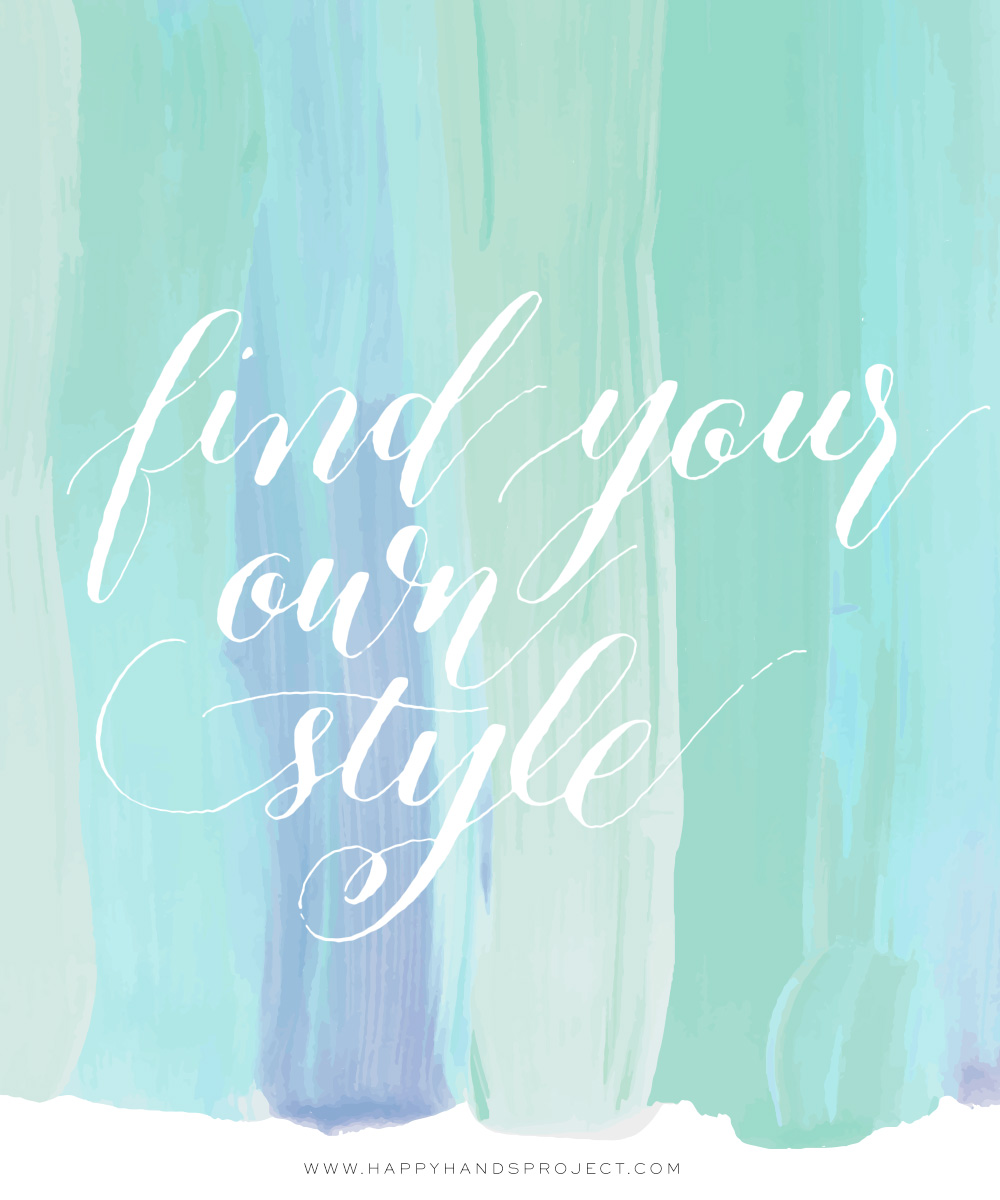 Find Your Own Calligraphy Style via Happy Hands Project