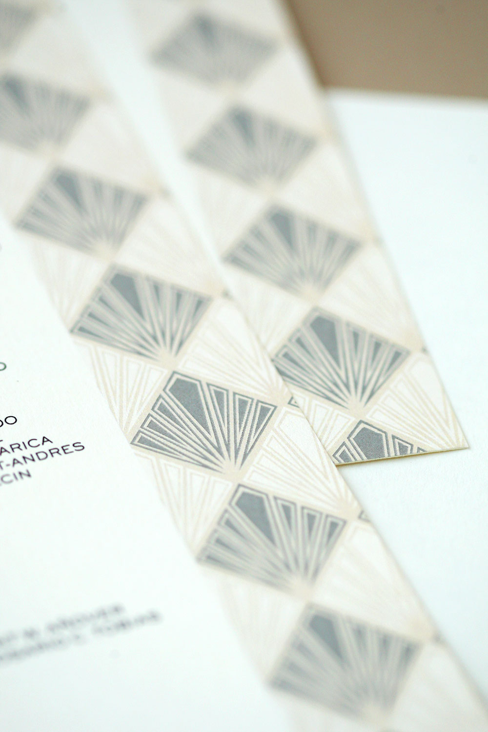 Art Deco Wedding Invitations via Happy Hands Project