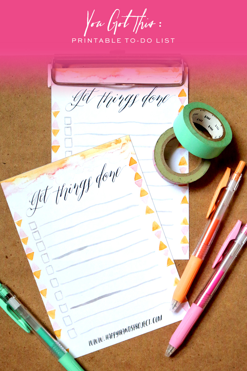Free Printable To-Do List via Happy Hands Project