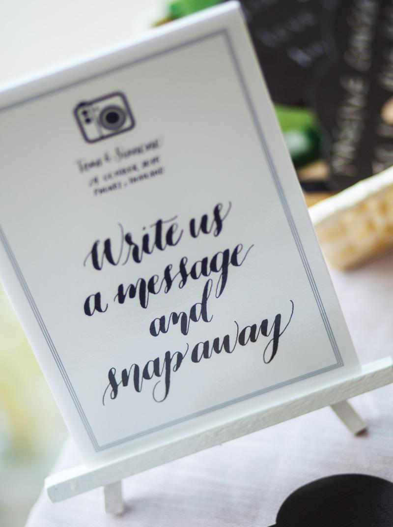 Phuket Wedding Calligraphy via Happy Hands Project