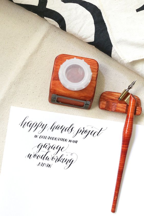 The Happy Hands Calligraphy Oblique Holder | happy hands project
