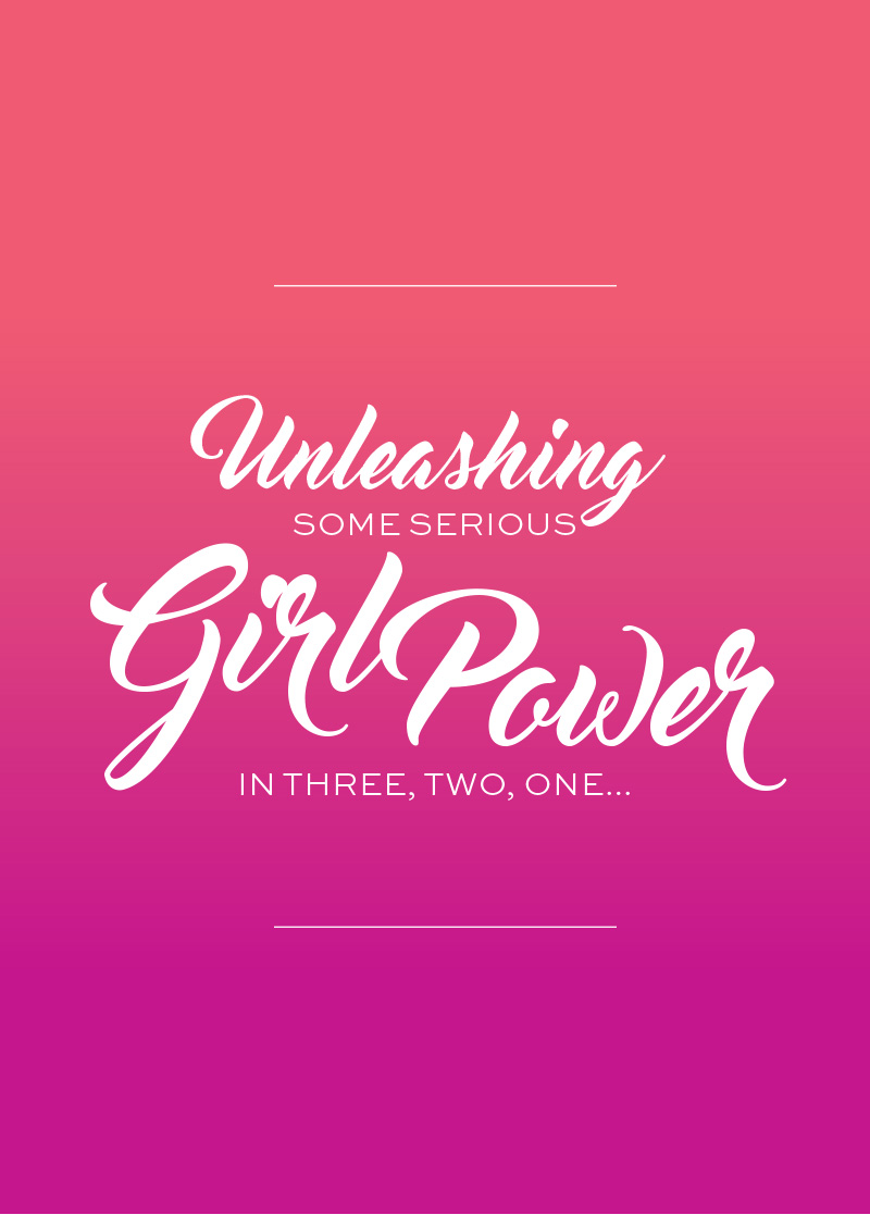 Girl Power Print via Happy Hands Project