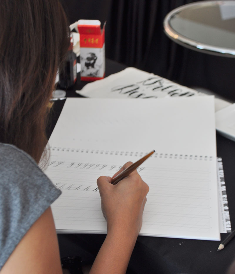 Calligraphy Workshop in Manila via Happy Hands Project