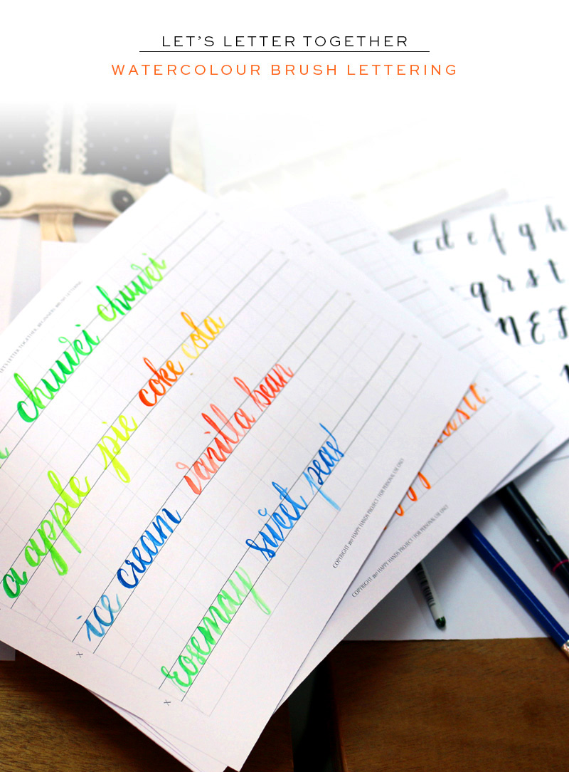 Brush Lettering Workshop via Happy Hands Project
