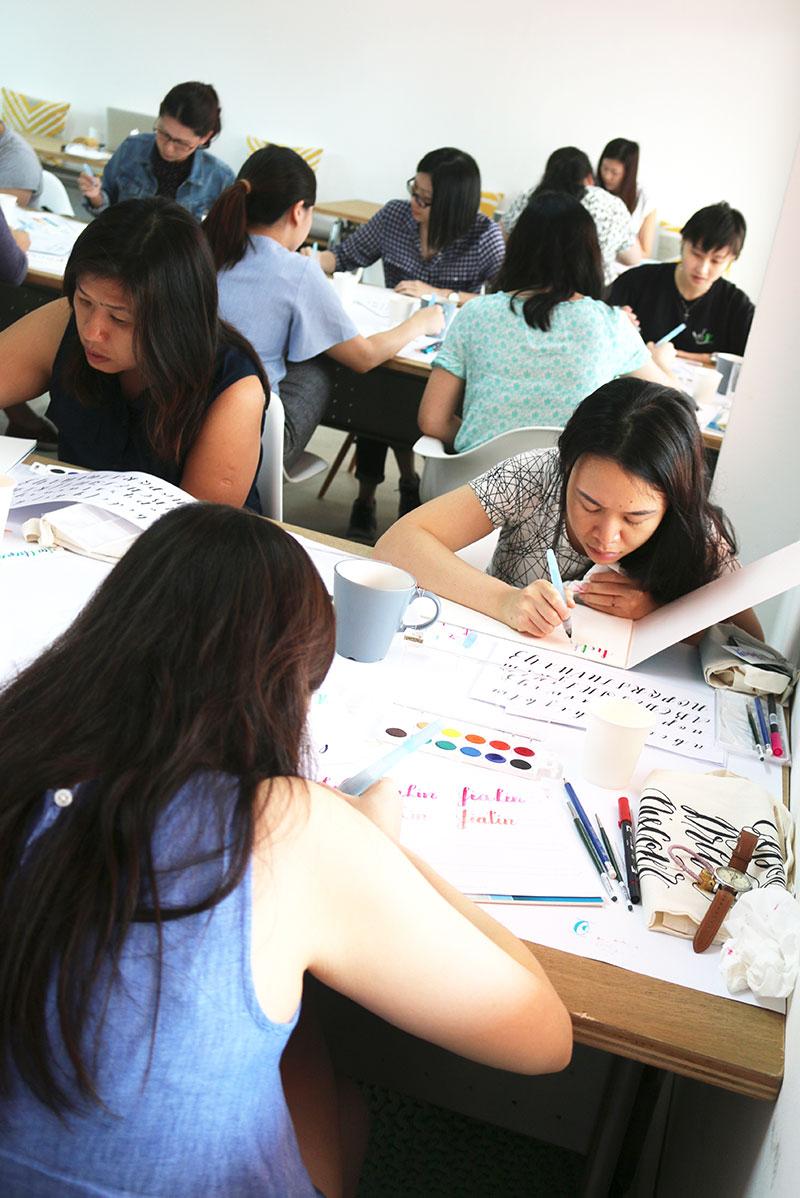 Brush Lettering Workshop via Happy Hands Project