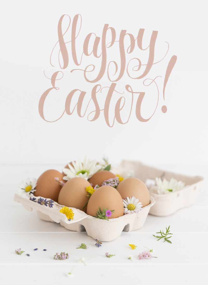 Happy Easter Lettering via Happy Hands Project