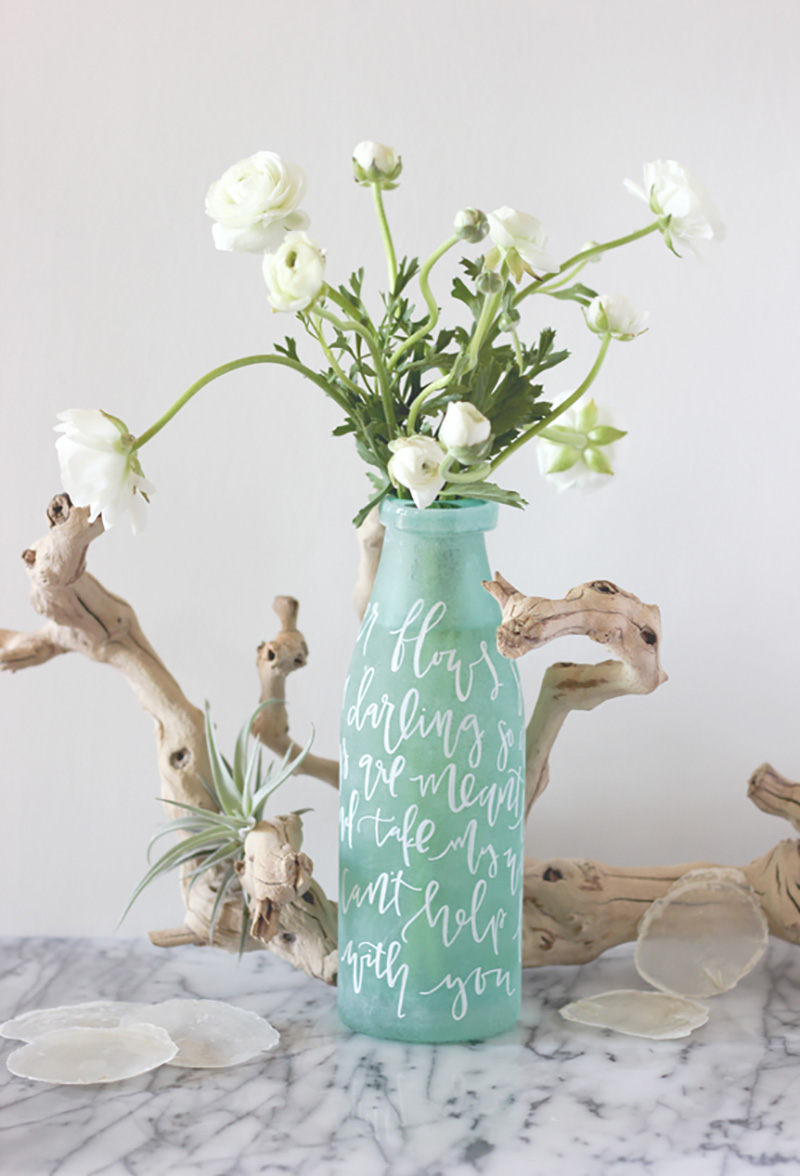 Hand-lettered Vase via Minted | Happy Hands Project