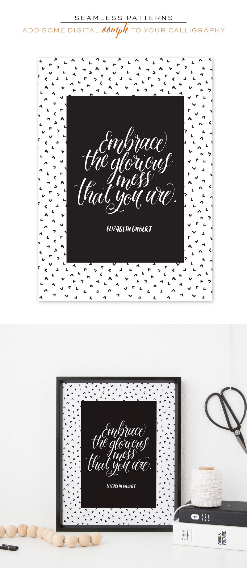 Adding Digital Patterns to Your Calligraphy via Happy Hands Project