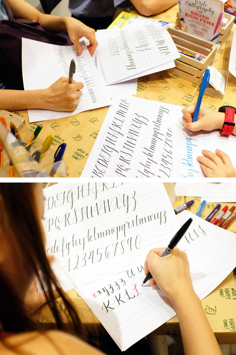 Pentel Lettering Workshop via Happy Hands Project
