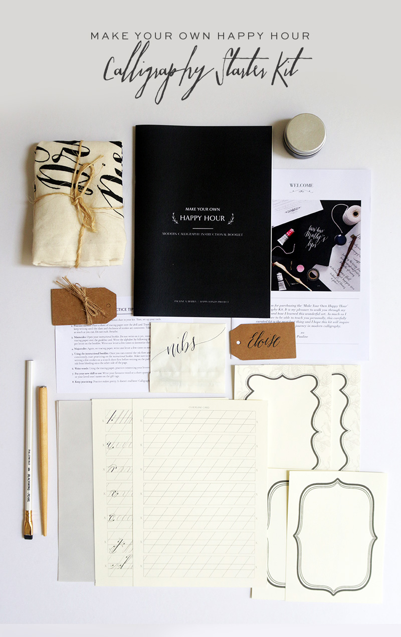 Calligraphy Starter Kit via Happy Hands Project
