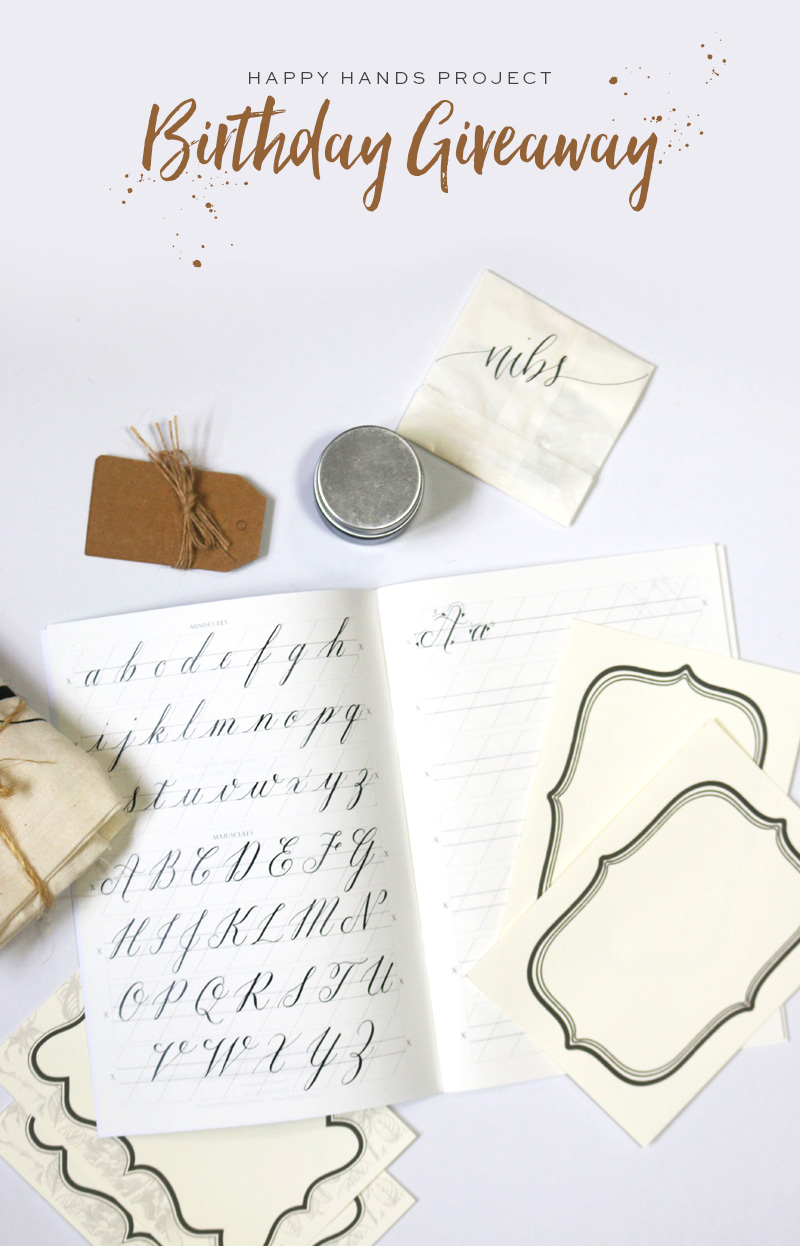 Calligraphy Kit Giveaway via Happy Hands Project