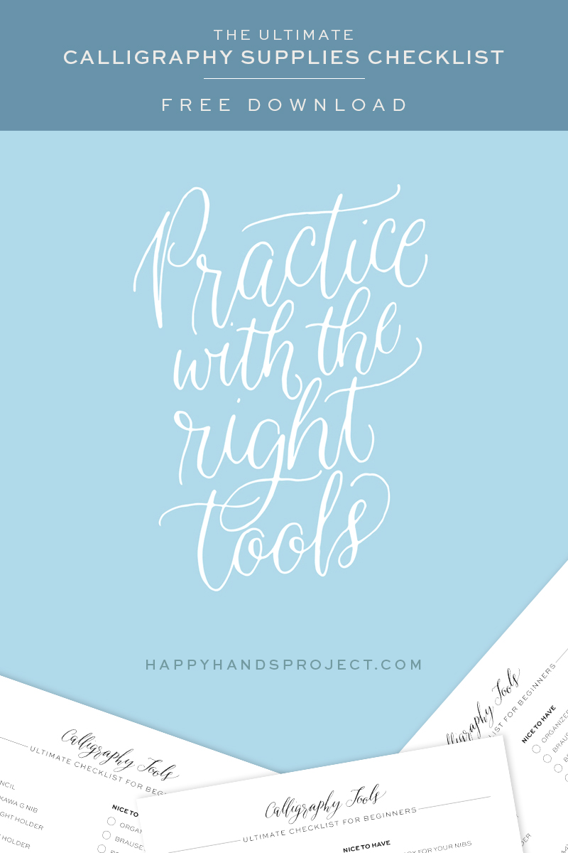 Ultimate Calligraphy Tools Checklist via Happy Hands Project