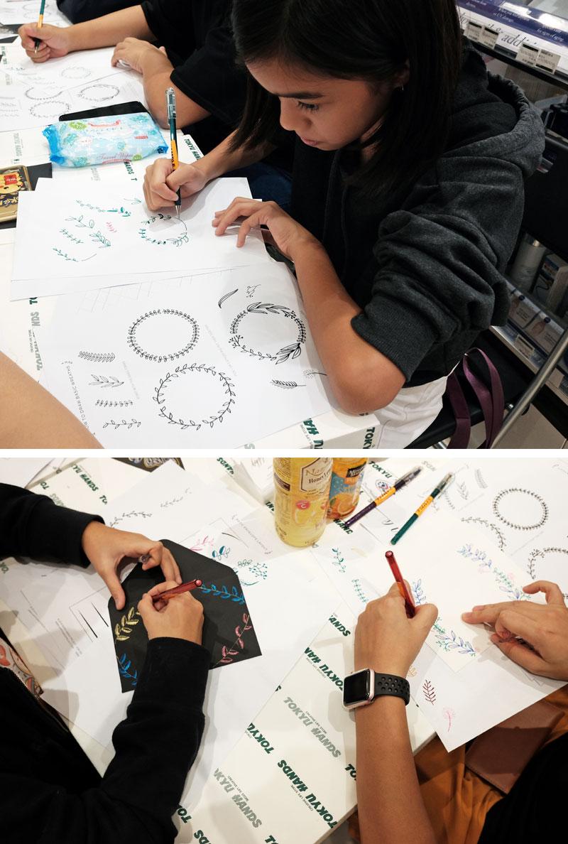 Pentel Dual Metallics Workshop via Happy Hands Project
