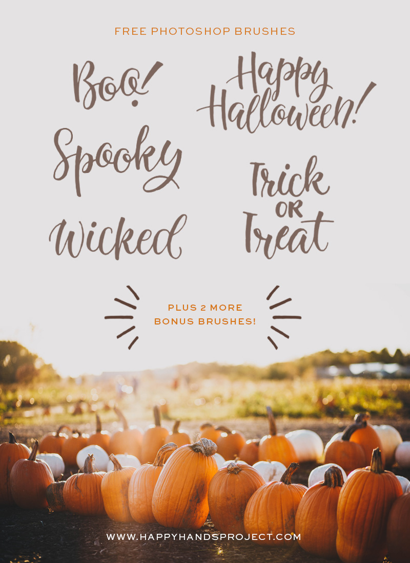 Free Halloween Photoshop Brushes via Happy Hands Project