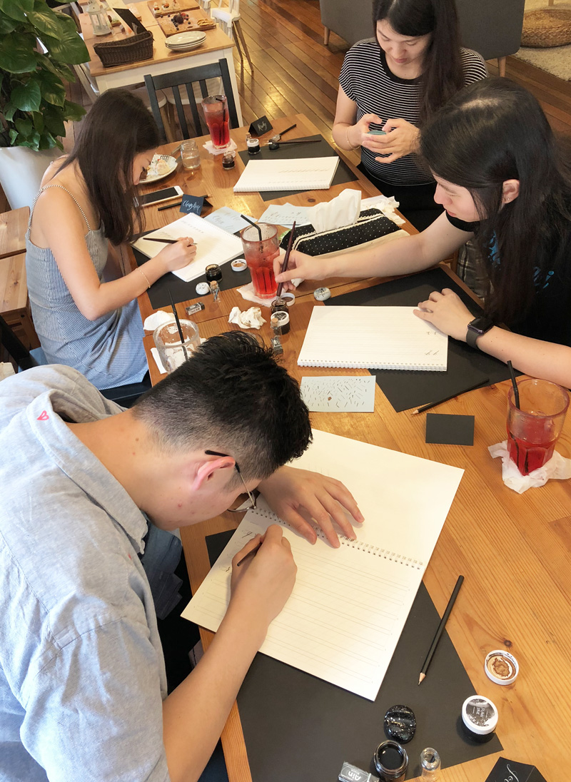 Modern Calligraphy Workshop via Happy Hands Project