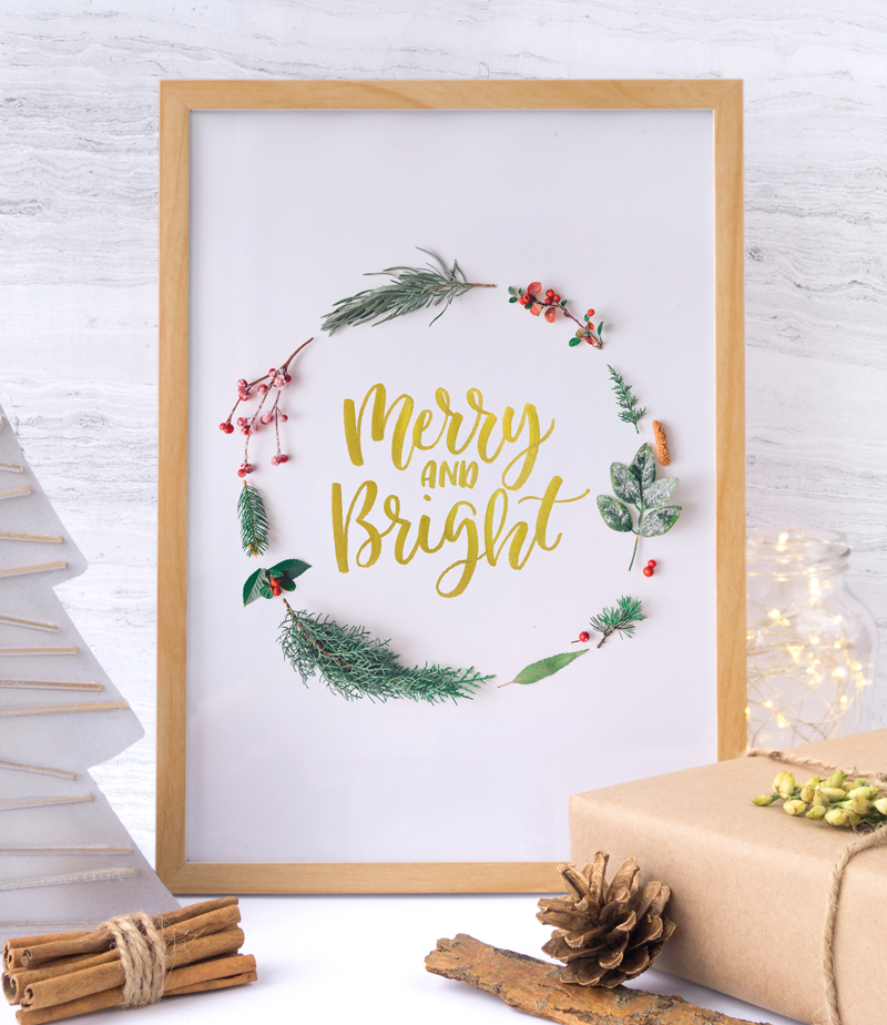 Christmas Merry And Bright Free Holiday Printable via Happy Hands Project